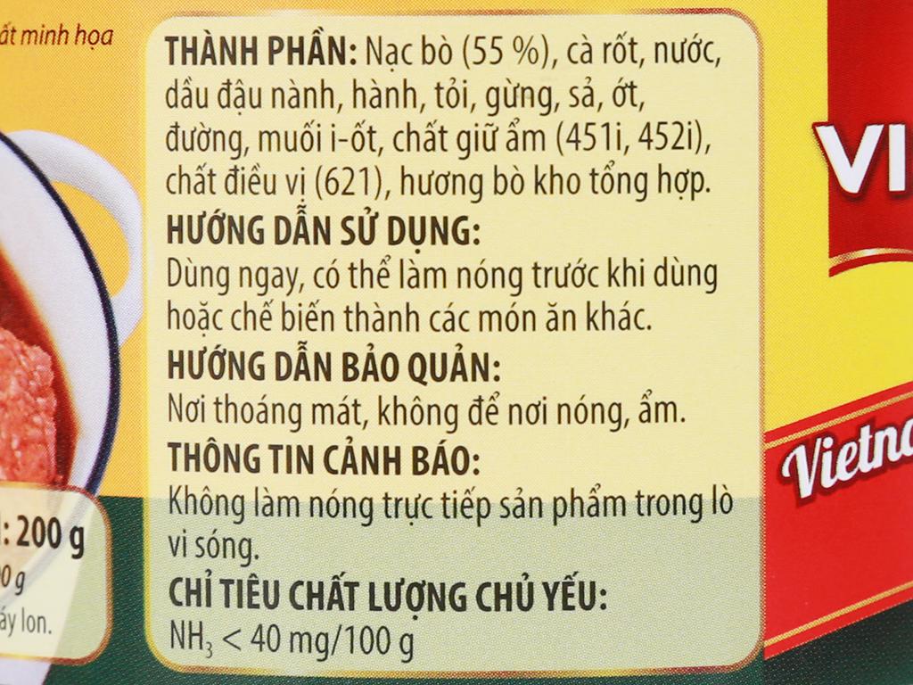 Bò kho Vissan hộp 200g 9