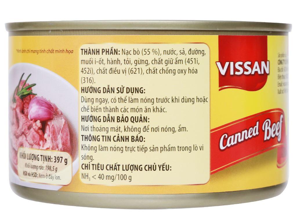 Bò hầm Vissan hộp 397g 8