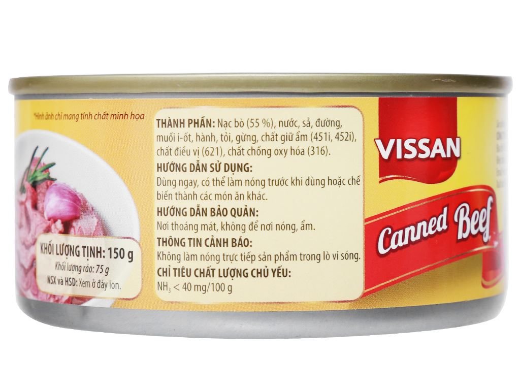 Bò hầm Vissan hộp 150g 6