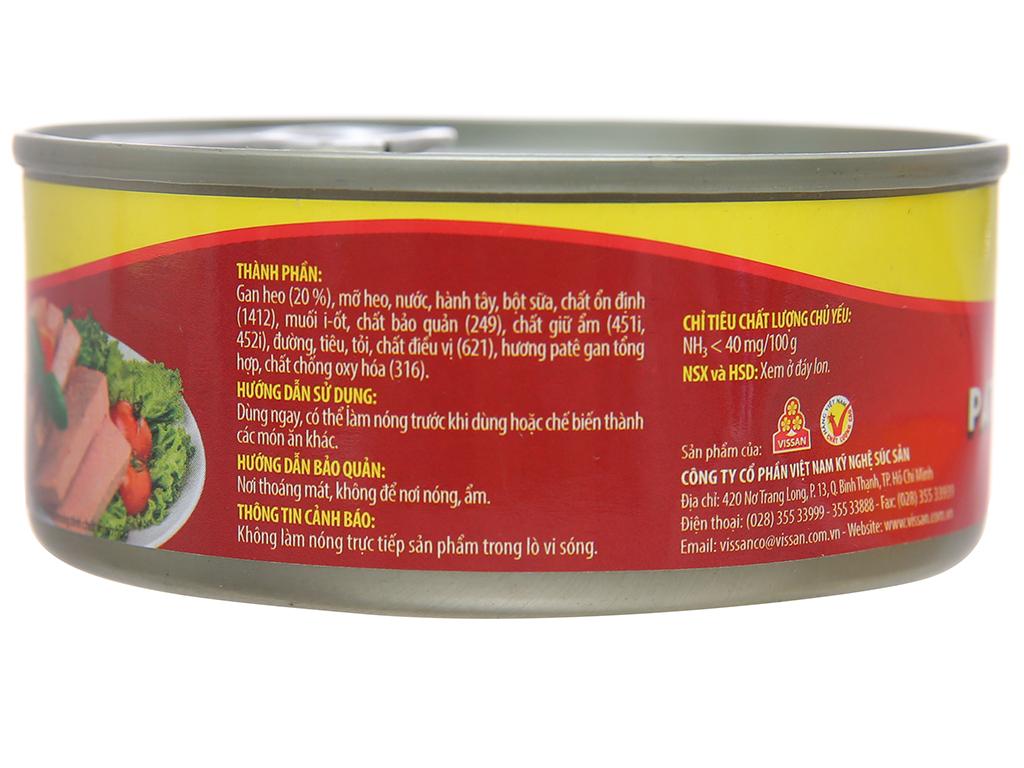 Pate gan heo Hảo vị Mai Vàng Vissan hộp 150g 2