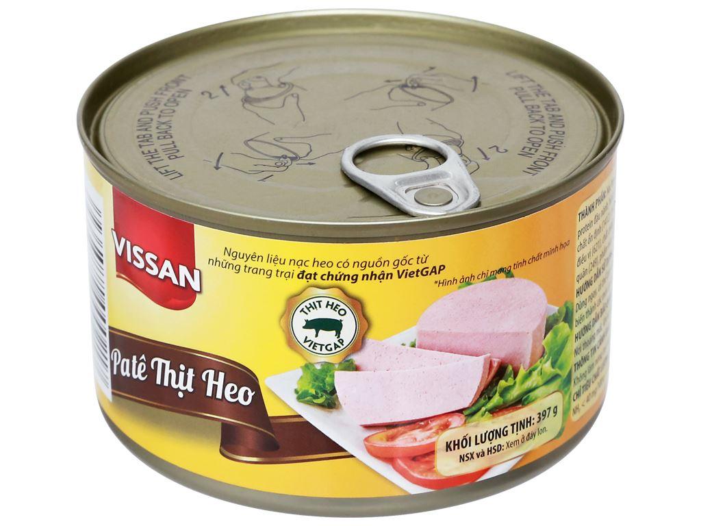 Pate thịt heo Vissan hộp 397g 6