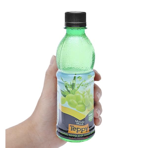 Nước trái cây nho và nha đam Teppy chai 327ml