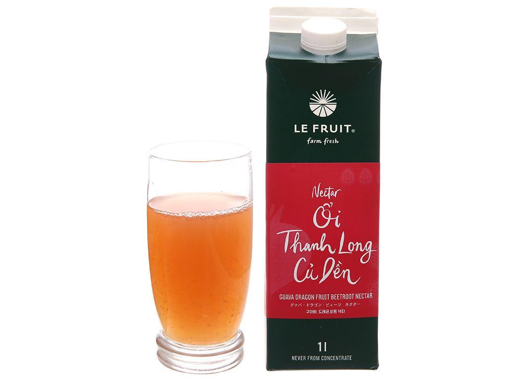 Nectar ổi, thanh long, củ dền Le Fruit 1L 3