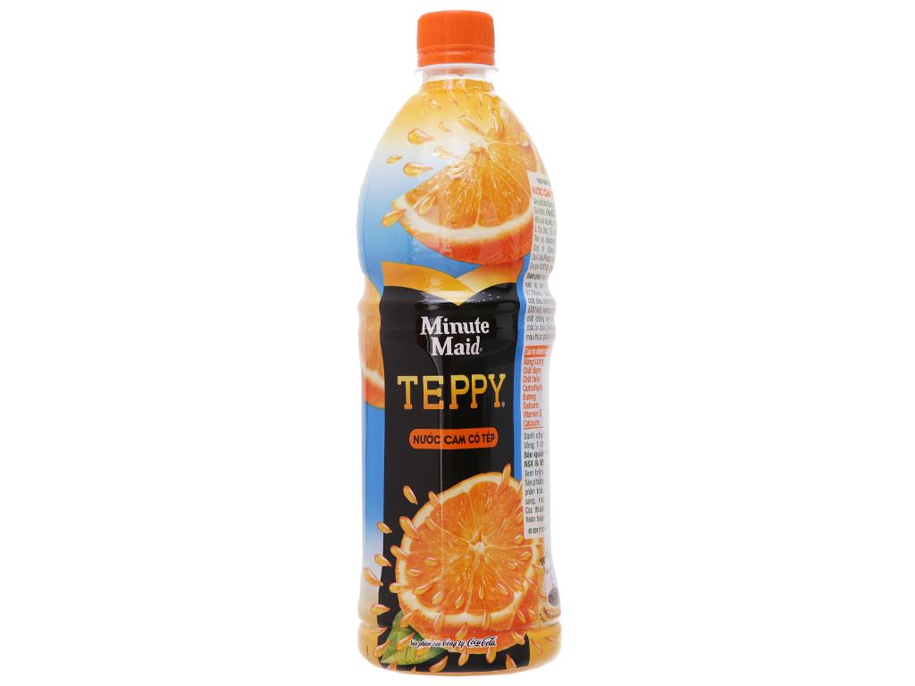 6 chai nước cam có tép Teppy 1 lít 3