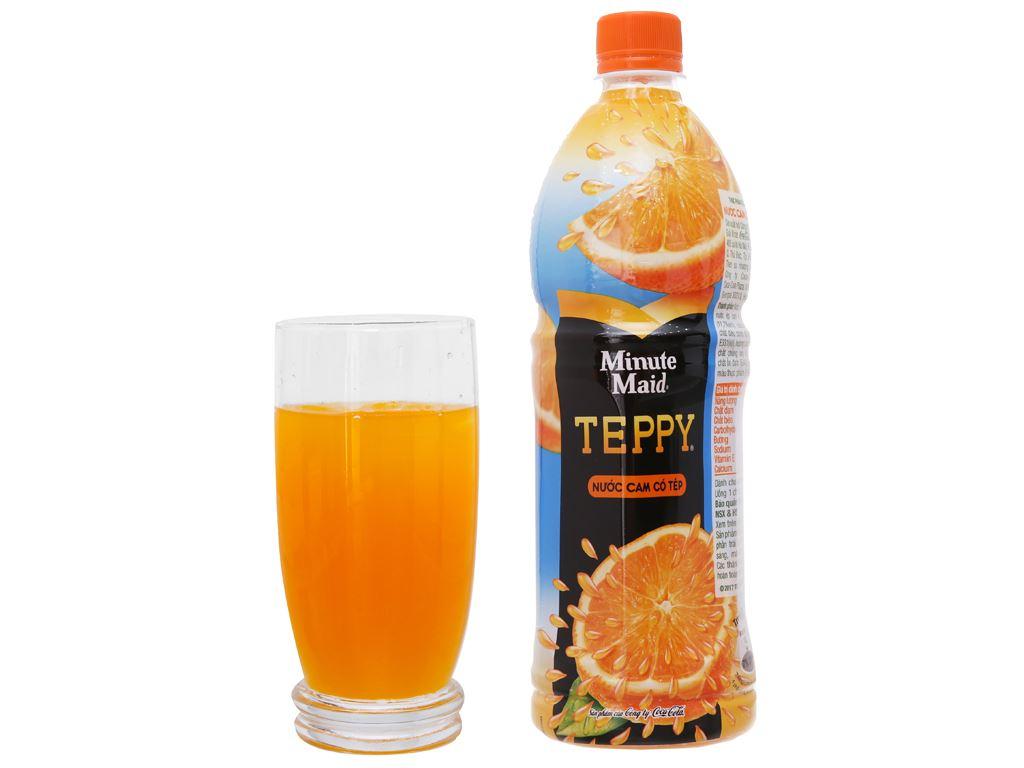6 chai nước cam có tép Teppy 1 lít 5