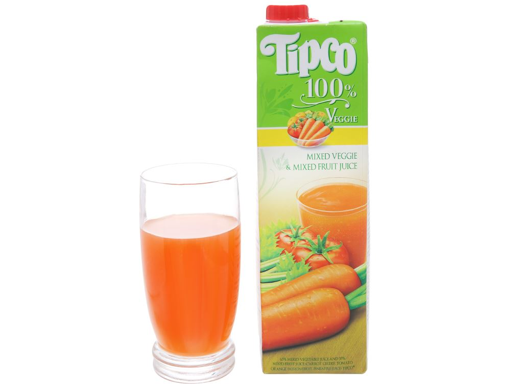 Nước ép rau và trái cây tổng hợp Tipco 1L 4