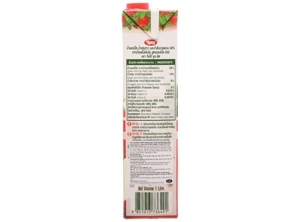 Nước ép trái cây hỗn hợp và táo Tipco 1L 2
