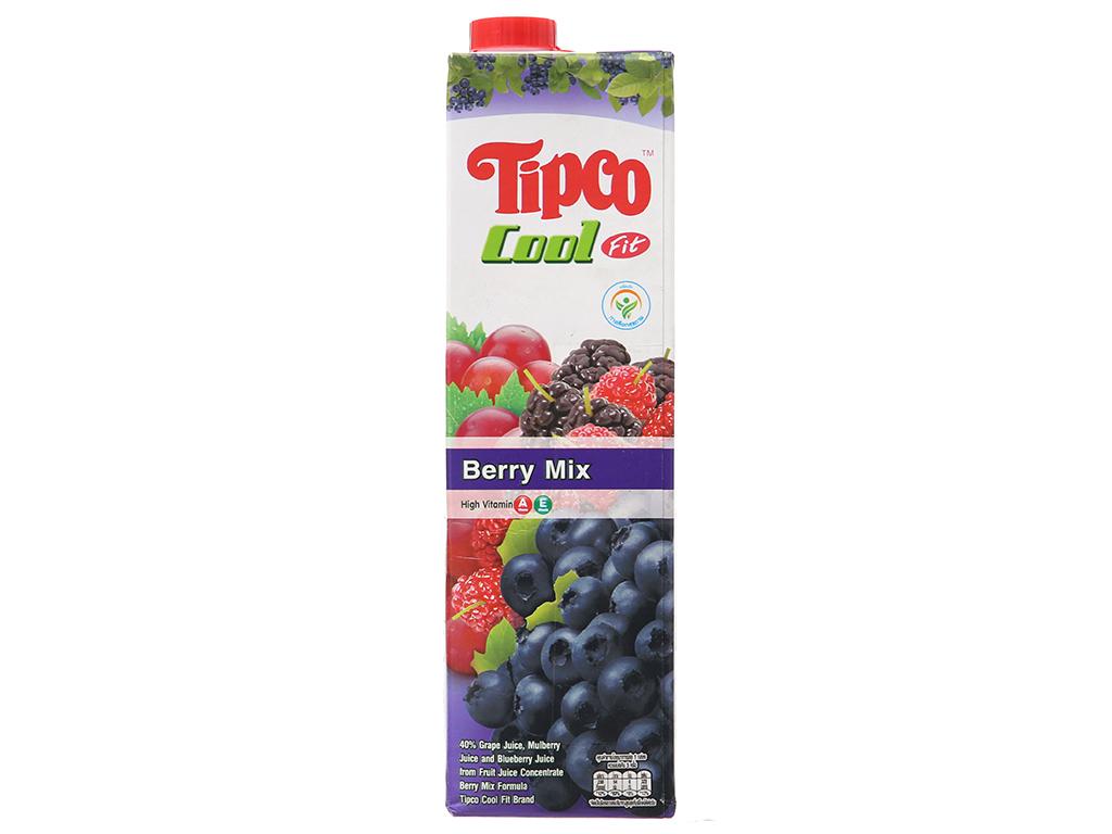 Nước ép berry & trái cây Tipco Cool Fit 1 lít 2