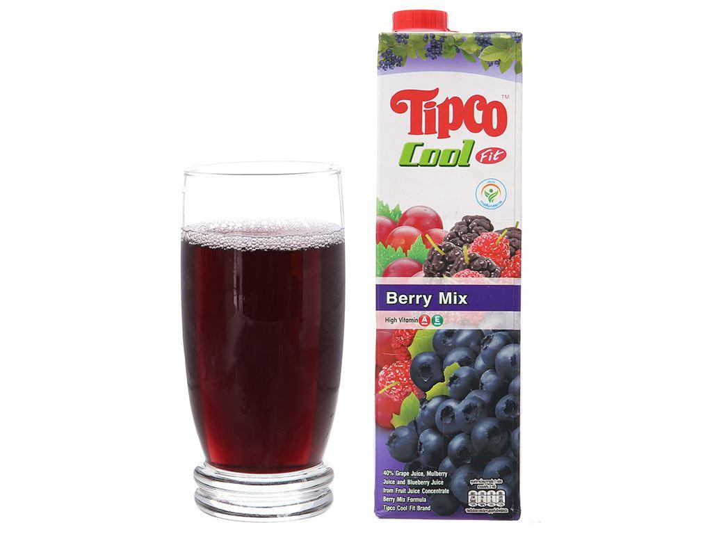 Nước ép berry & trái cây Tipco Cool Fit 1 lít 4