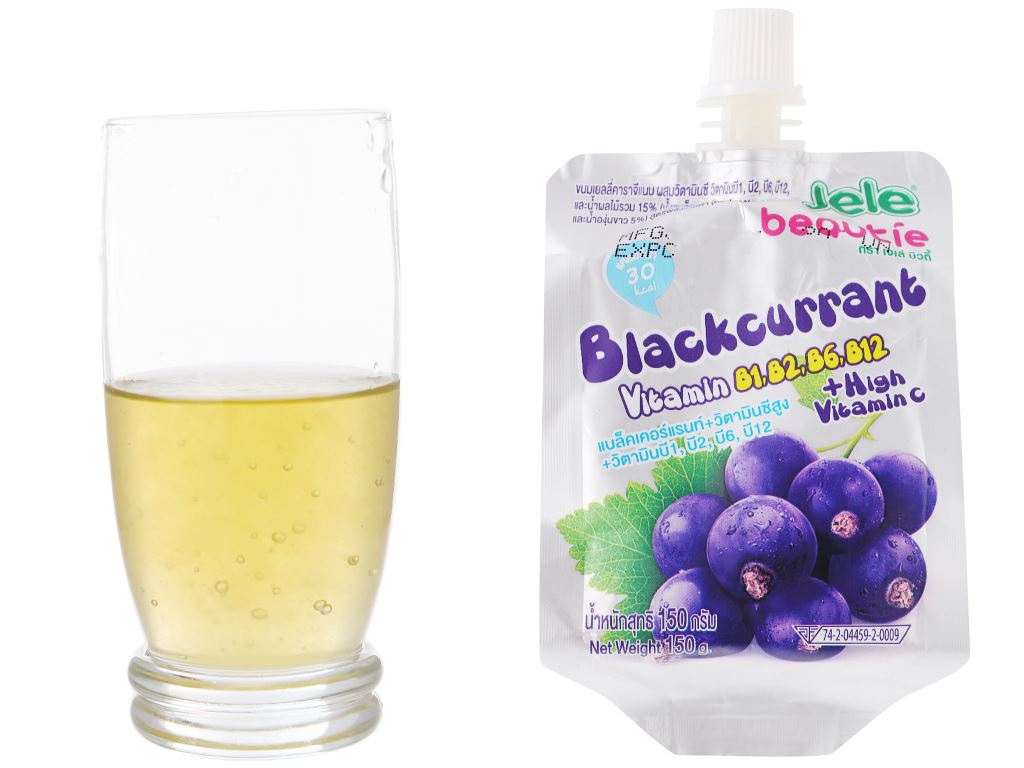 Nước ép trái cây thạch Jele Beautie Blackcurrant 150g 4