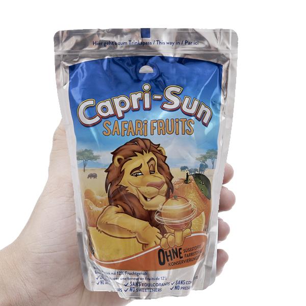 Nước ép trái cây hỗn hợp Capri-Sun Safari Fruits 200ml