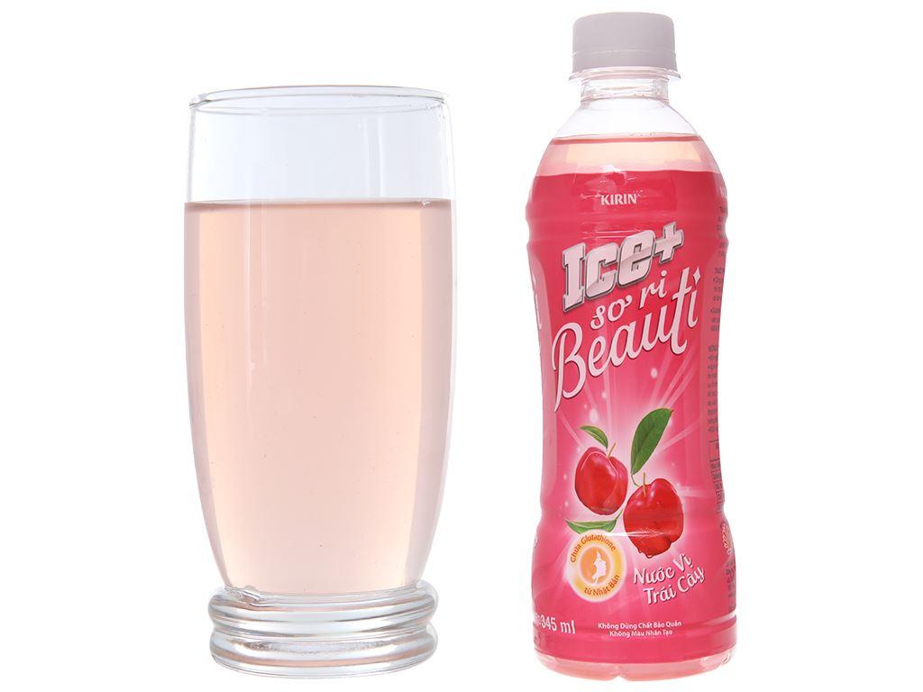 Thùng 24 chai nước trái cây Ice+ vị sơ ri 345ml 4