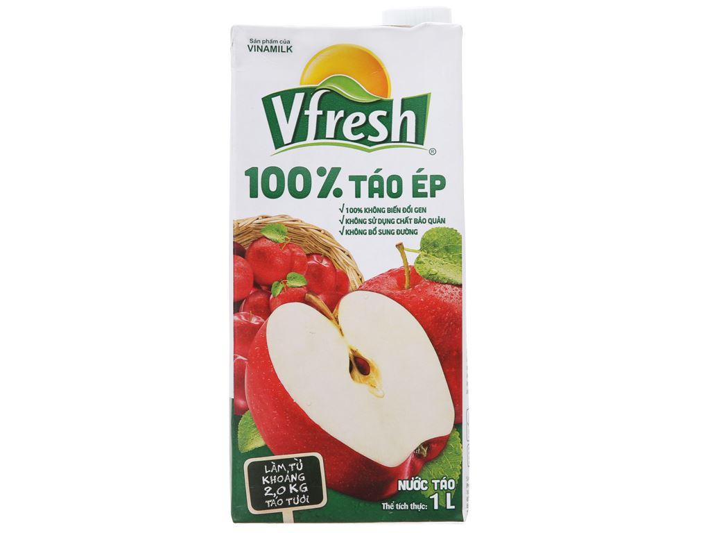 Thùng 12 hộp nước ép táo Vfresh 1 lít 1