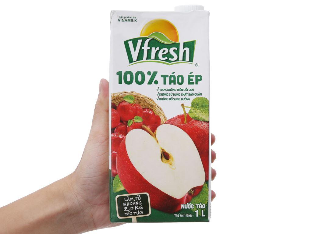 Thùng 12 hộp nước ép táo Vfresh 1 lít 3