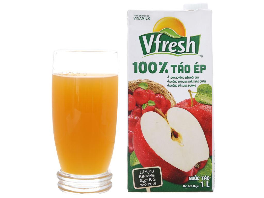 Thùng 12 hộp nước ép táo Vfresh 1 lít 4