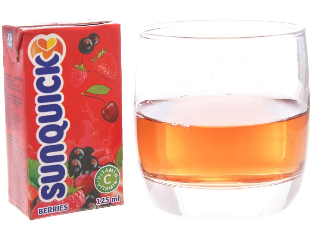 Nước ép trái cây hỗn hợp và dâu rừng Sunquick 125ml 1