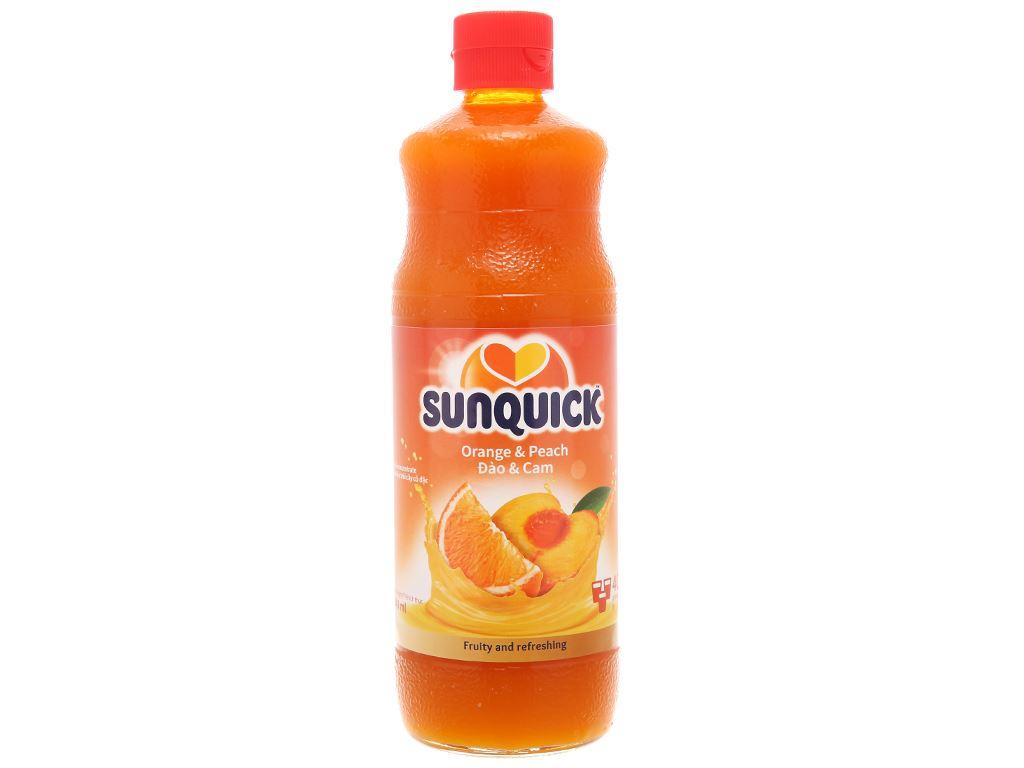 Nước ép cô đặc đào & cam Sunquick 840ml 2