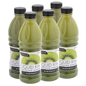 6 chai nước trái cây kiwi Nekta Ít đường 1 lít