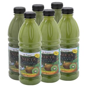 6 chai nước trái cây liquid kiwi Nekta 1 lít