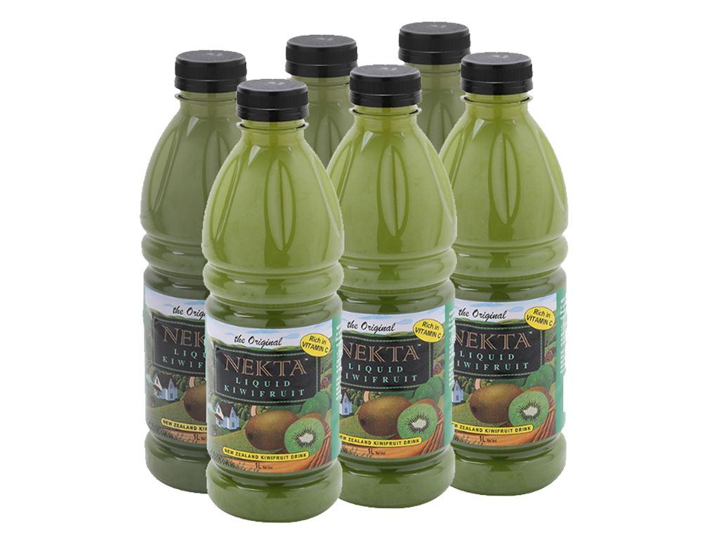 6 chai nước trái cây kiwi Nekta 1 lít 1