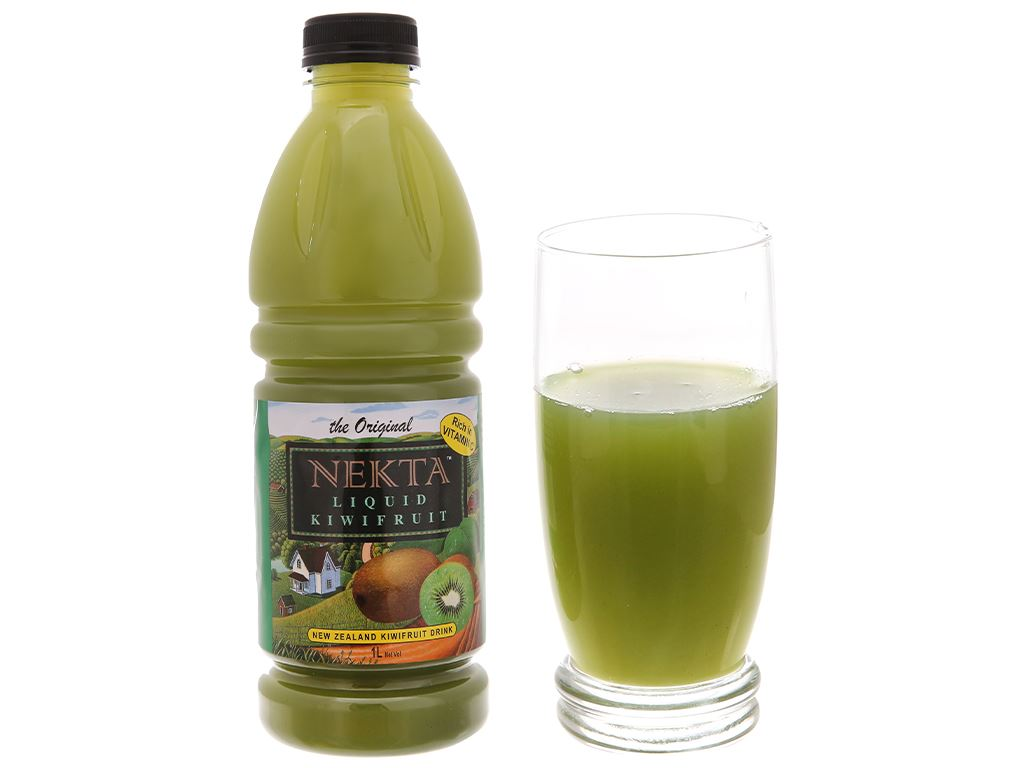 6 chai nước trái cây kiwi Nekta 1 lít 5