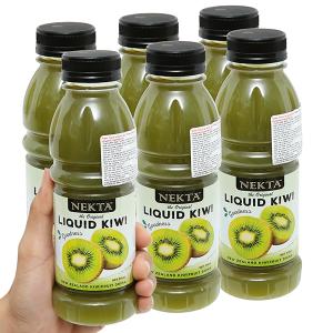 6 chai nước trái cây kiwi Nekta 375ml