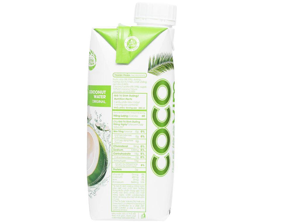 Nước dừa xiêm xanh Cocoxim 330ml 3