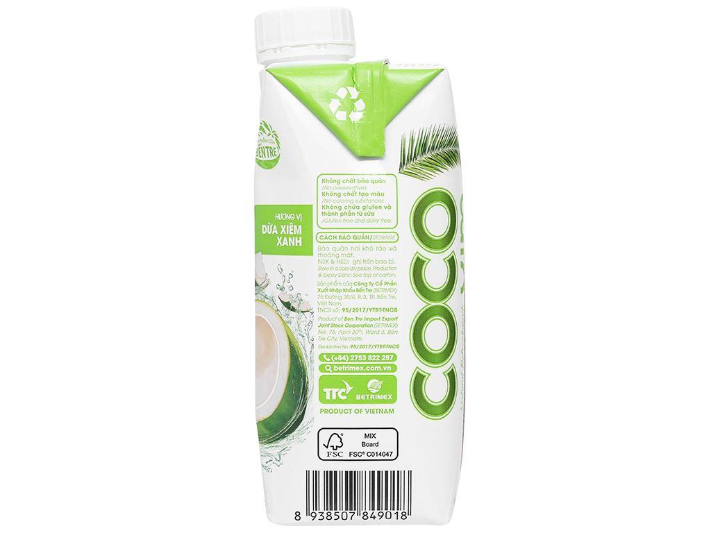 Nước dừa xiêm xanh Cocoxim 330ml 4