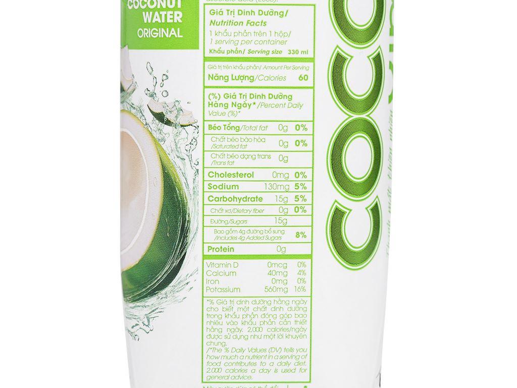 Nước dừa xiêm xanh Cocoxim 330ml 6