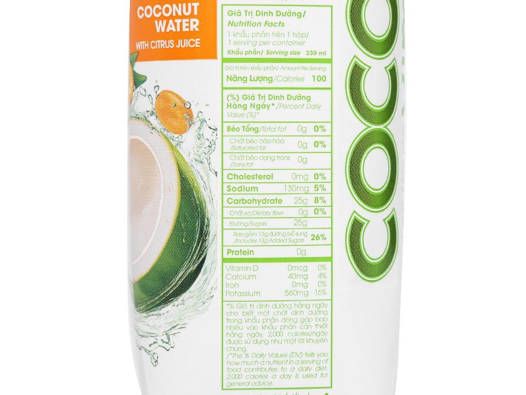 Nước dừa tắc Cocoxim 330ml 6