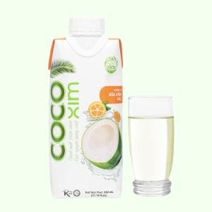 Nước dừa xiêm và tắc Cocoxim 330ml