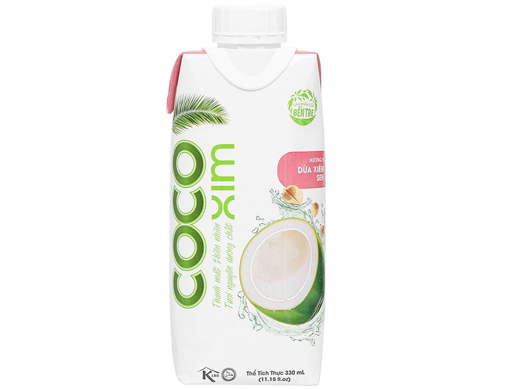 Nước dừa xiêm sen Cocoxim 330ml 1