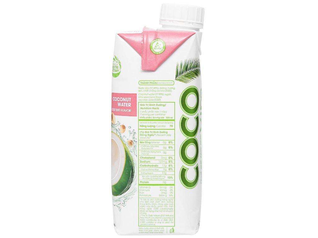 Nước dừa xiêm sen Cocoxim 330ml 3