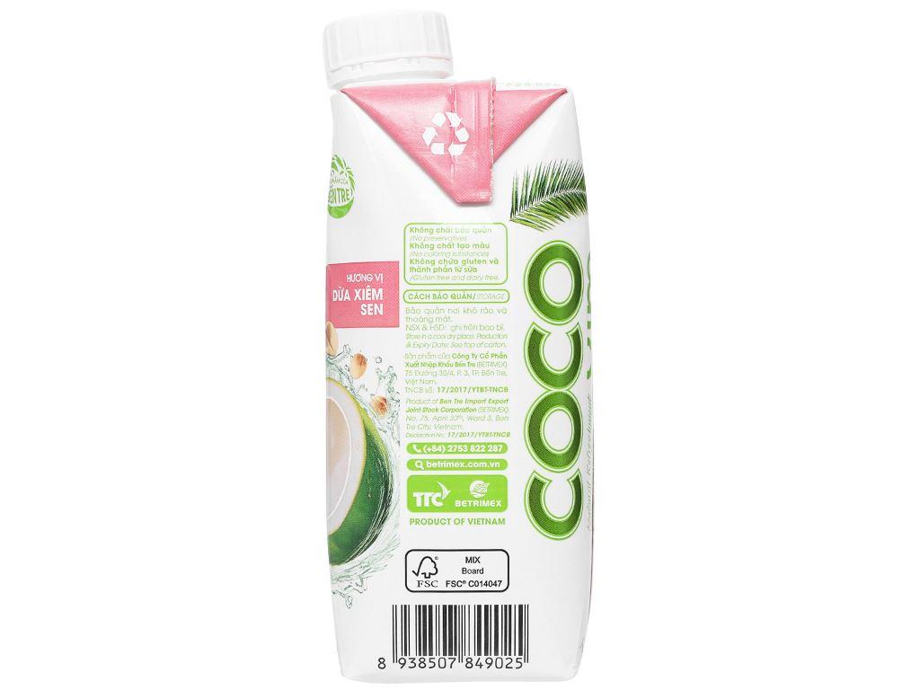 Nước dừa xiêm sen Cocoxim 330ml 4