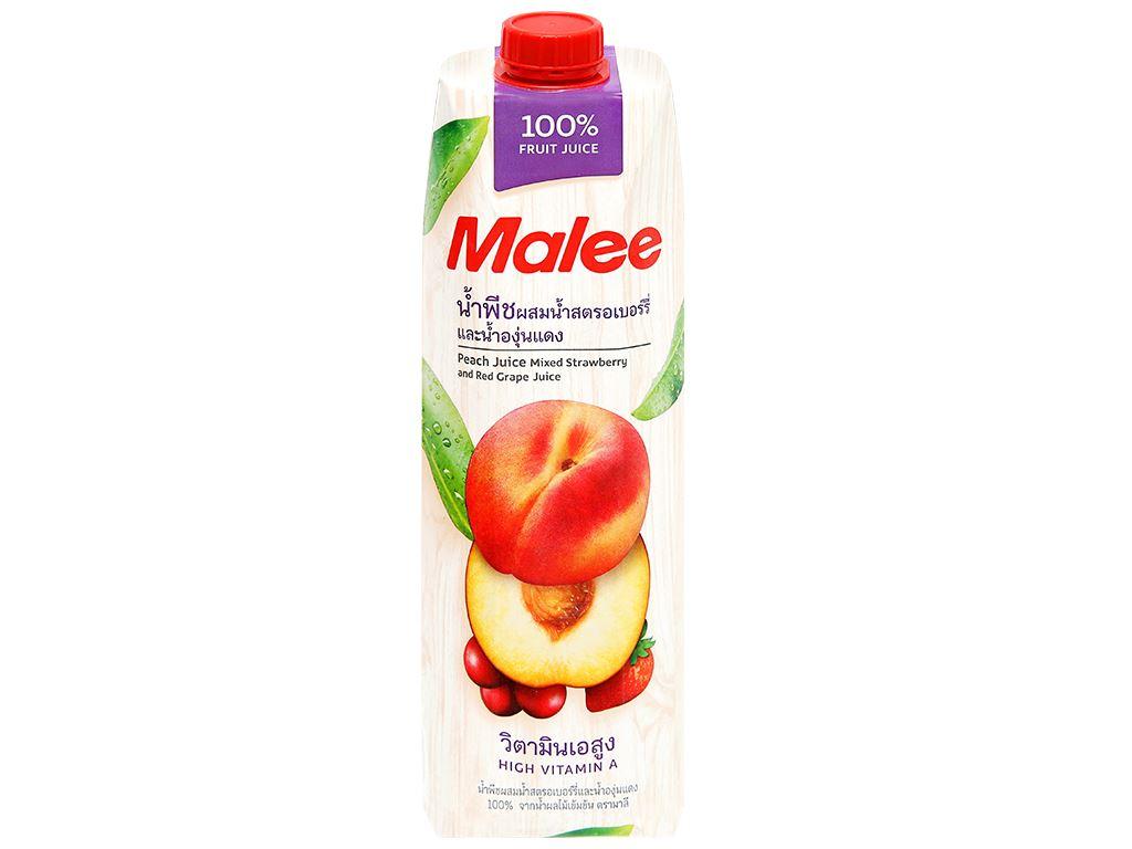 Nước ép đào & trái cây Malee 1 lít 3
