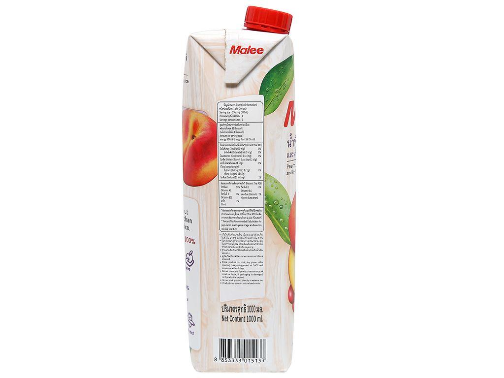 Nước ép đào & trái cây Malee 1 lít 6