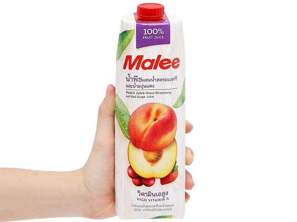 Nước ép đào & trái cây Malee 1 lít 7