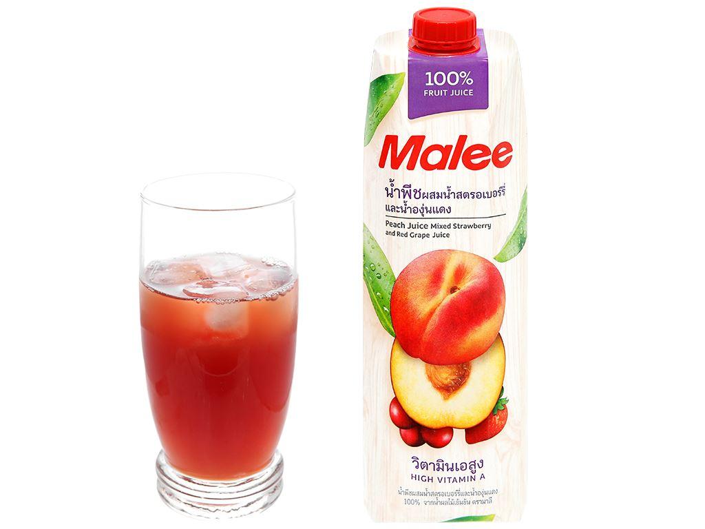 Nước ép đào & trái cây Malee 1 lít 8