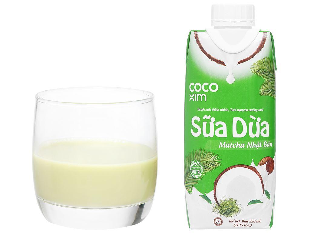 Sữa dừa matcha Nhật Bản Cocoxim 330ml 8