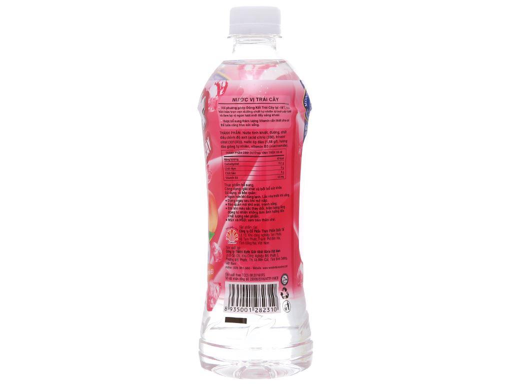 6 chai nước trái cây Ice+ vị đào 490ml 3