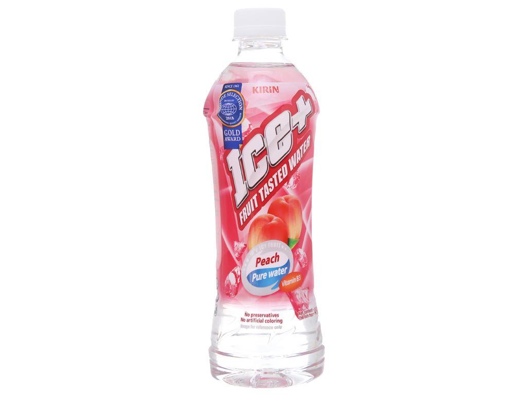 6 chai nước trái cây Ice+ vị đào 490ml 2