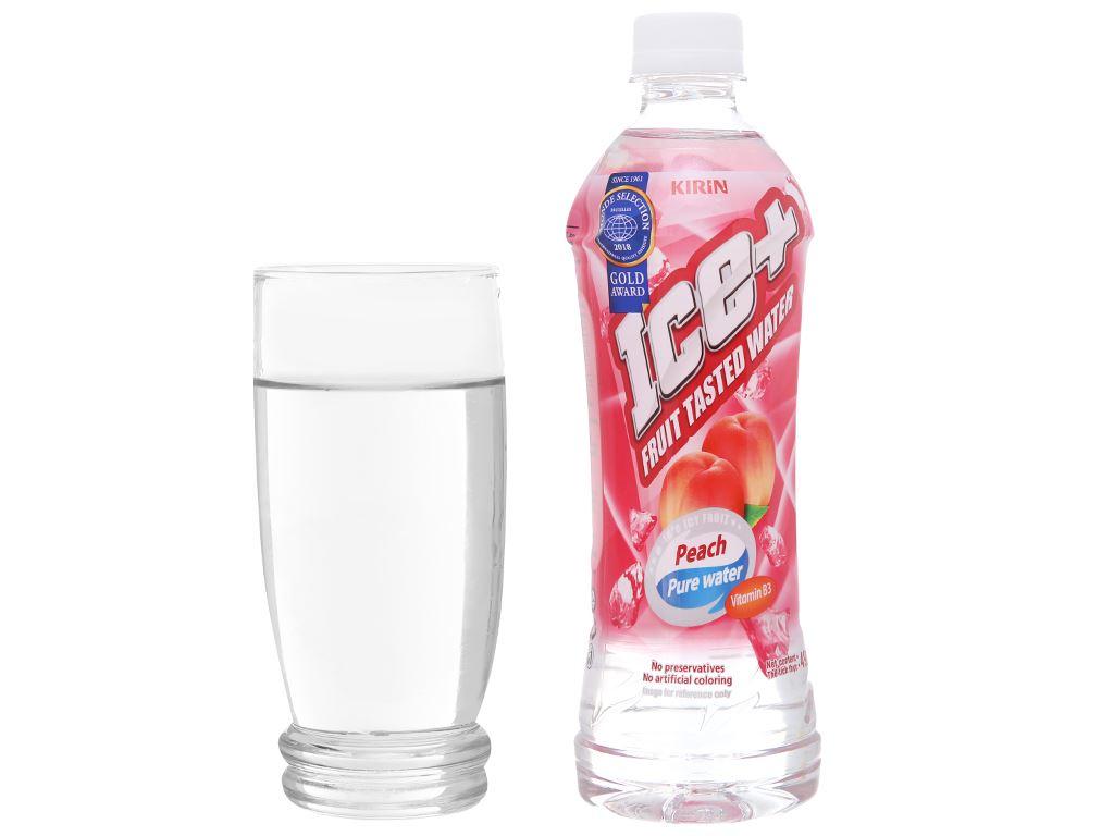 6 chai nước trái cây Ice+ vị đào 490ml 5