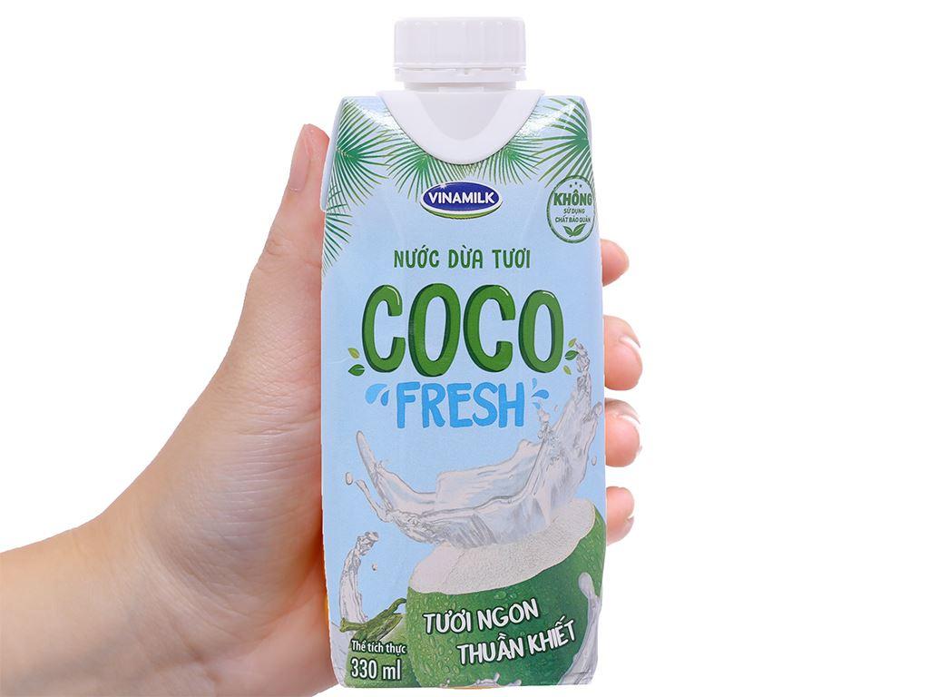6 hộp nước dừa tươi Vinamilk Coco Fresh 330ml 4