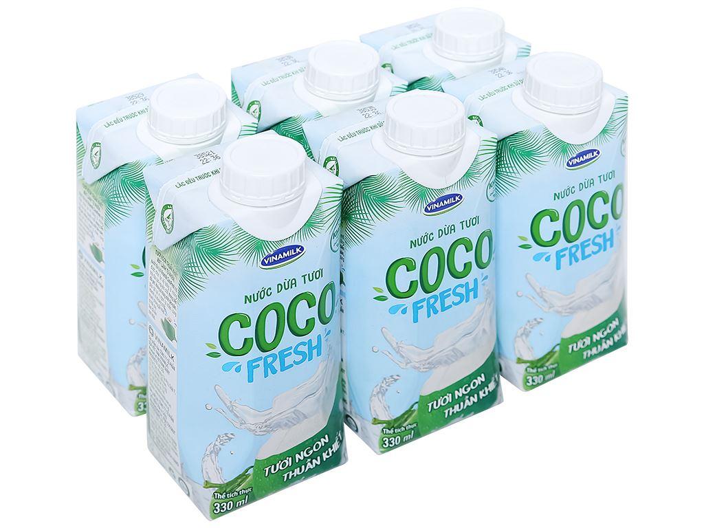 6 hộp nước dừa tươi Vinamilk Coco Fresh 330ml 1