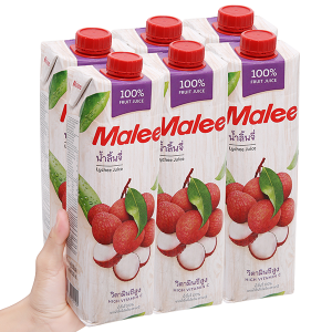 6 hộp nước ép trái vải Malee 1L