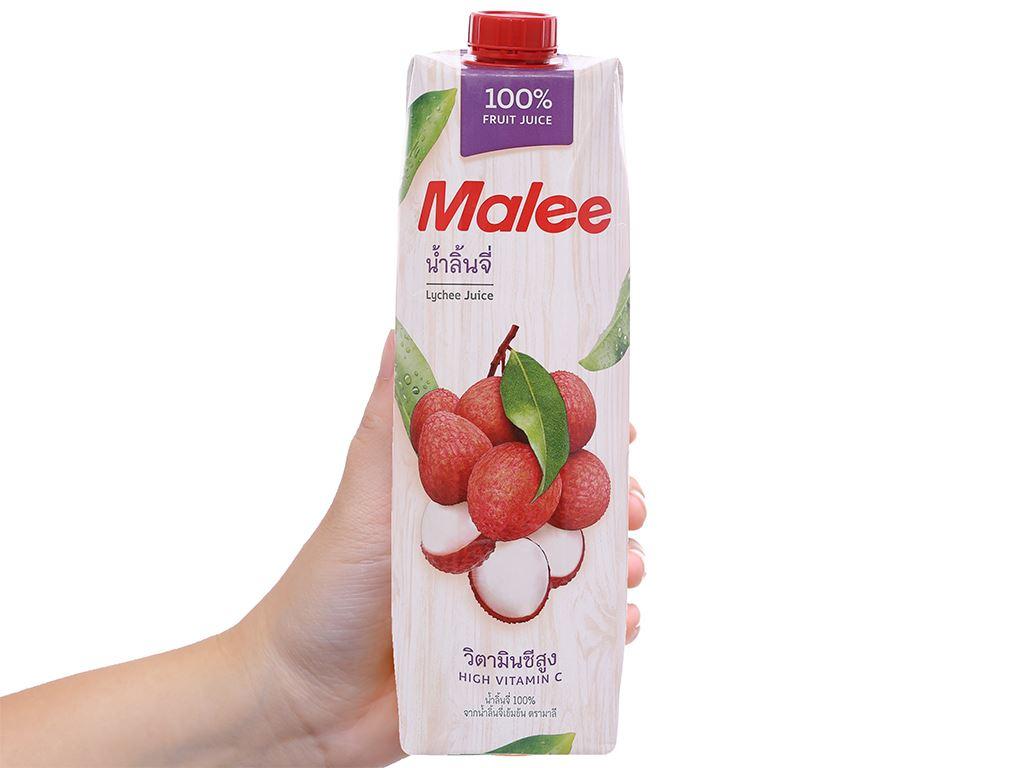 Thùng 12 hộp nước ép trái vải Malee 1 lít 3