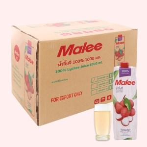 Thùng 12 hộp nước ép trái vải Malee 1 lít
