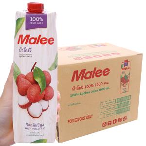 Thùng 12 hộp nước ép trái vải Malee 1L