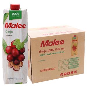 12 hộp nước ép nho Malee 1L