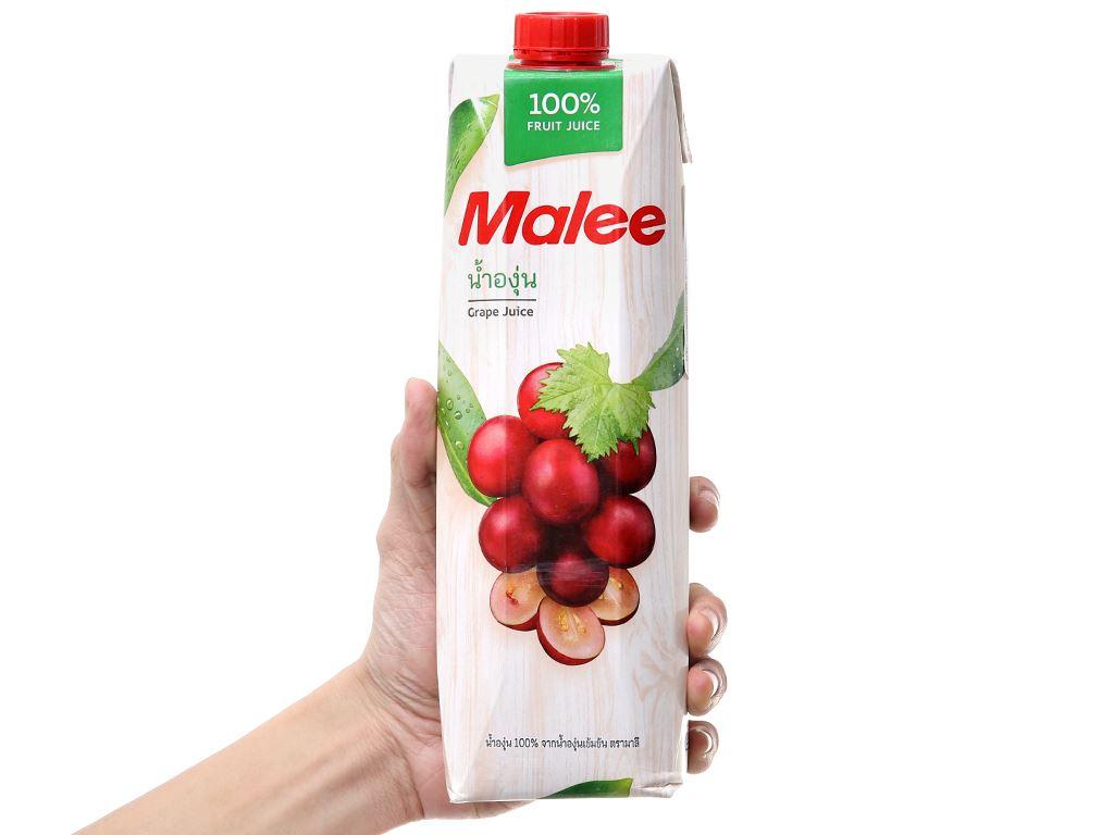 12 hộp nước ép nho Malee 1 lít 5